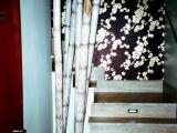 decorazione artistica canne di bambu opera finita