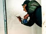 decorazione artistica pittura su soffitto in corso
