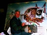 decorazione artistica su muro in elaborazione