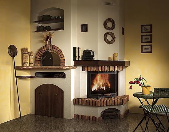 Forni e camini a roma forni a legna e camini artigianali - Camino con forno ...
