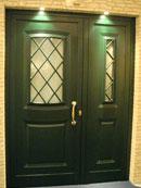 Porta d'ingresso verde