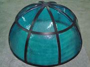 Decorazione in ferro e vetro