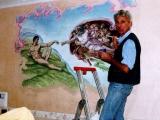 decorazione artistica quadro su muro in corso
