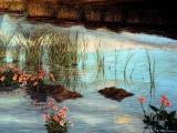 decorazione artistica lago