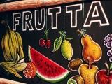 decorazione artistica lavagna frutta