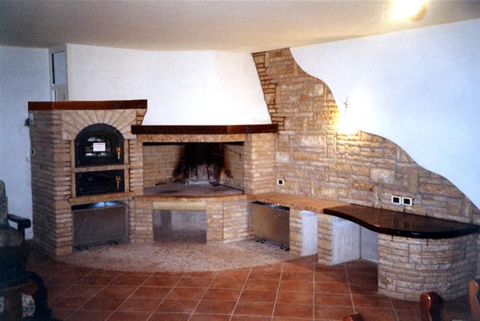 Forni e camini a roma forni a legna e camini artigianali in muratura - Camino per cucinare ...